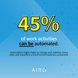 45 percent of work activities can be automated