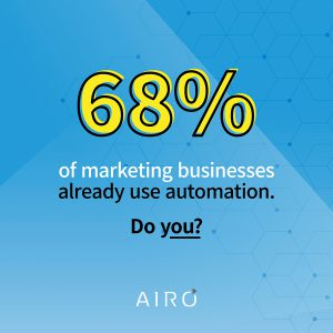 68 percent of marketing businesses use automation